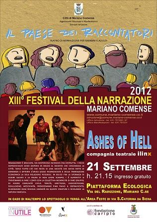 Ashes of Hell un fottuto requiem per Mahagonny Ilinx Teatro in scena al Festival della Narrazione a Mariano Comense