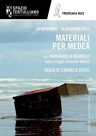 """La trilogia di Heiner Müller, """"Materiali per Medea"""" con Mariangela Granelli, regia di Carmelo Rifici. Spazio Tertulliano"""