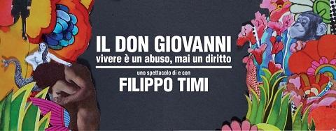 """Il Don Giovanni di Filippo Timi ovvero """"vivere è un abuso, mai un diritto"""" al Teatro Franco Parenti di Milano."""