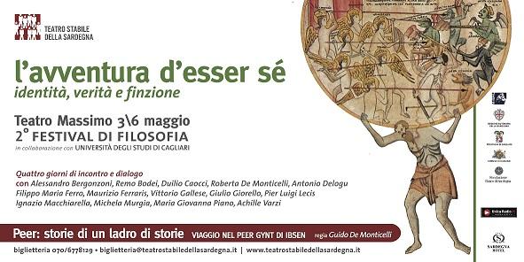 """Il Festival della Filosofia a Cagliari """"""""L'avventura d'esser sé identità, verità e finzione"""""""