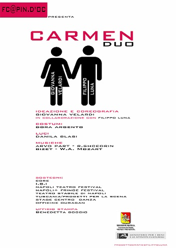 Carmen Duo  di Giovanni Velardi e con Filippo Luna alla Sala Laudamo di Messina.