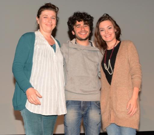 I primi tre classificati. Da sinistra: Manetti, Palmiero, Rupi