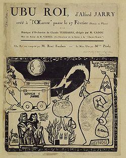 Locandina Ubu Roi debutto 1896