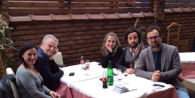 l'inviata di Rumor(s)cena Annamaria Monteverdi, Pietro Valenti Jeton Neziraj Gabriele Marangoni Susanna Tognella