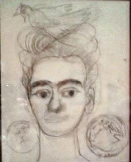 Frida Kahlo, Autoritratto con colomba e Lemniscata, 1954