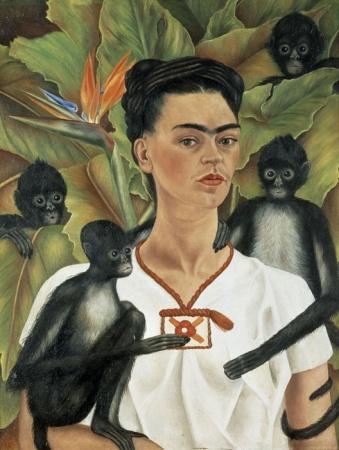 Autoritratto con scimmie, 1943