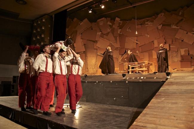 Pinocchio scenapadre5, compagnia di Sollicciano