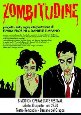 """Zombitudine"" Elvira Frosini Daniele Timpano"