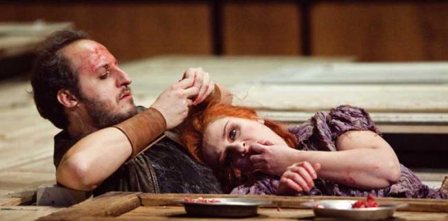 Celestina, regia di Luca Ronconi, Fausto Russo Alesi e Licia Lanera, foto di Luigi LaSelva