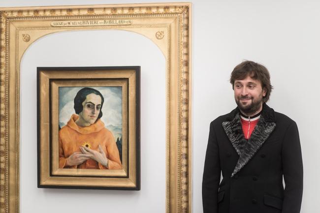 Francesco Vezzoli  Ernst Nepo, Dame mit gelber Blume, Collezione Museion credito foto Luca Meneghel