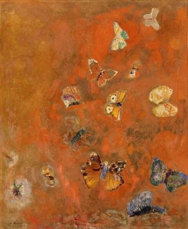 Odilon Redon, Evocazione di farfalle, 1910