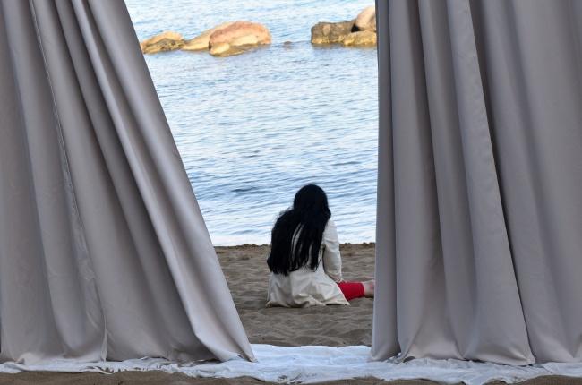 """Roberto Latini Fortebraccio Teatro """"Orfeo e Euridice"""", Inequlibrio edizione 2015, spiaggia di Castiglioncello"""