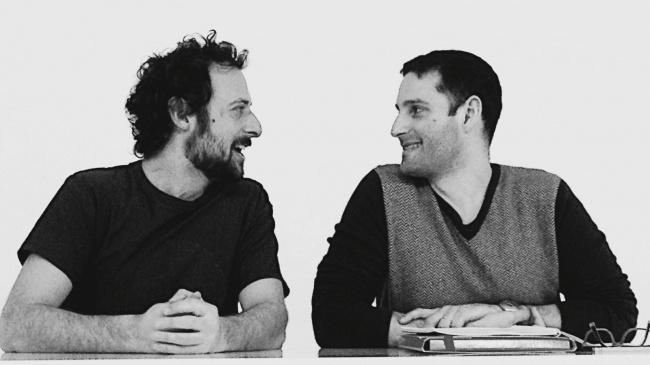Paolo Li Volsi e Tindaro Granata (foto delle prove di Geppetto e Geppetto)