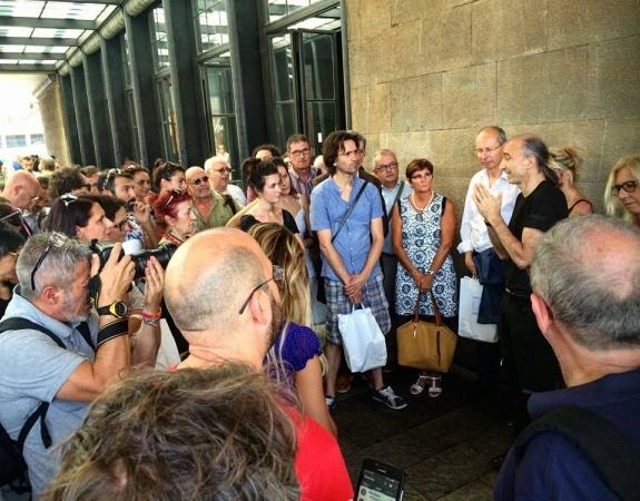 Conferenza stampa alla stazione di Santa Maria Novella 11 luglio 2016
