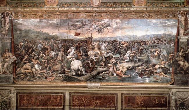 La Battaglia di Costantino contro Massenzio - Scuola di Raffaello (Sala di Costantino, Stanze Vaticane)