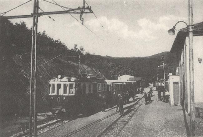 Il primo treno in circolazione nel 1929