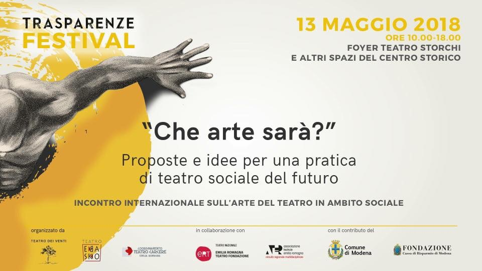 Convegno sull'arte del teatro in ambito sociale al Teatro Storchi di Modena