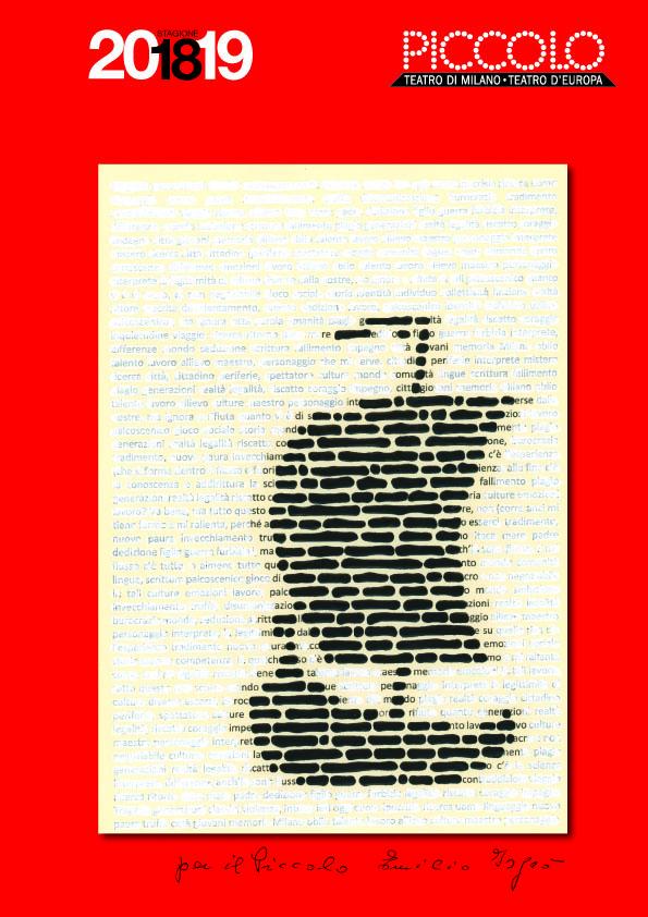 Copertina del libretto Stagione Piccolo di Emilio Isgrò