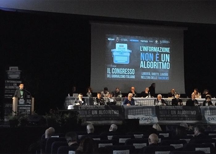 """Congresso FNSI. Libertà di stampa: """"la democrazia italiana non muoia nell'oscurità""""."""