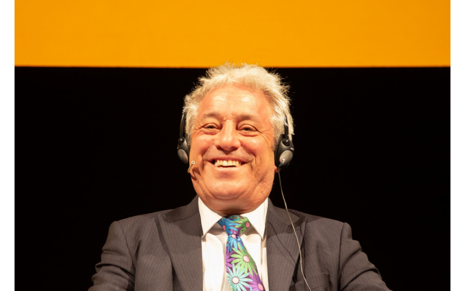 """Lo Speaker Mister Bercow al Festival dell'Economia di Trento. """"Order, order"""" alla Camera dei Comuni"""