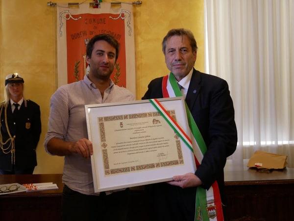 Matthiew Caruana Galizia e il sindaco di Ronchi dei Legionari Livio Vecchiet