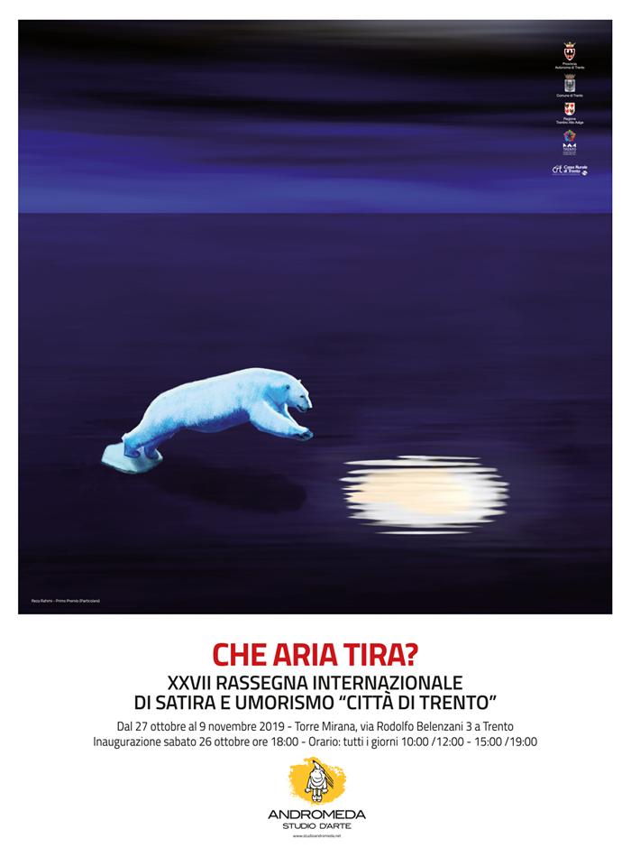 """""""Che aria tira?"""" rassegna di satira e umorismo. Studio d'arte Andromeda di Trento"""