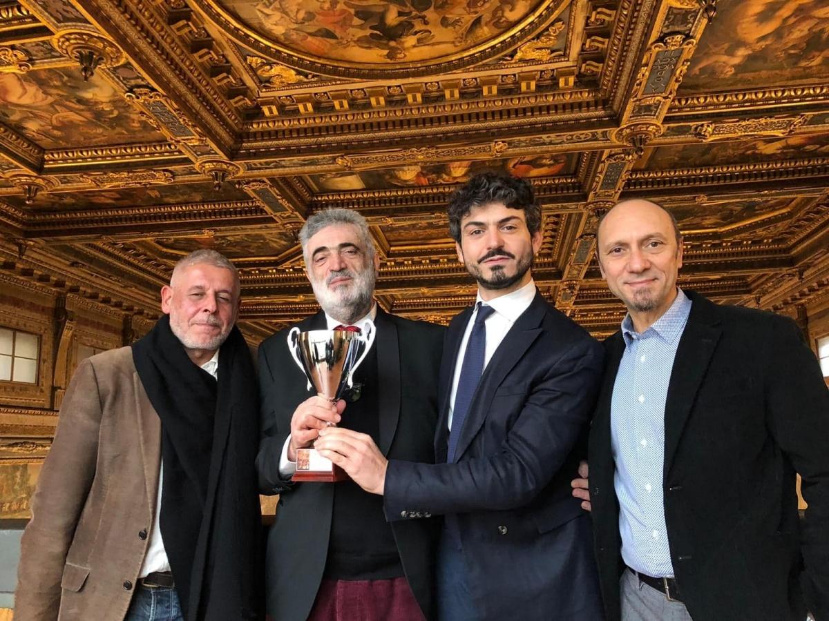Giancarlo Mordini, Angelo Savelli, Tommaso Sacchi, Francesco De Biasi Salone dei Cinquecento Palazzo Vecchio Firenze