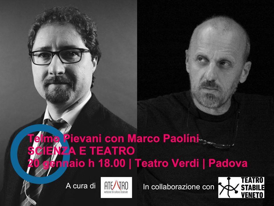Scienza e Teatro in dialogo: Telmo Pievani e Marco Paolini al Teatro Verdi di Padova