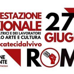 """I lavoratori dello spettacolo in piazza Santi Apostoli a Roma: """"convocateci dal vivo!"""""""