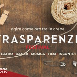 """Tra Gombola e Modena bisogna""""Agire come oro tra le crepe"""": Trasparenze Festival 2020"""