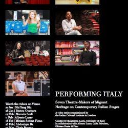 Performing Italy : video ritratti di artisti teatrali italiani Vimeo  – Istituto  italiano  di cultura di Londra