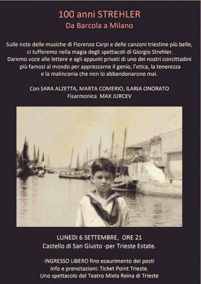 """Giorgio Strehler: """"Da Barcola a Milano: il viaggio di un genio europeo""""."""